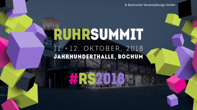 Ruhr Summit am 11. und 12. Oktober in Bochum